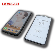 Allvcover 2018 New 5D Tempered Glass Screen Protector for iPhone X Anti dust with Stronger Edge(China)