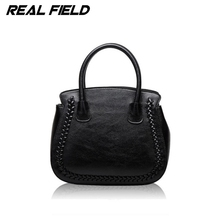 Real Field Brand High Quality Split Leather Women Tote Handbags Ladies Luxury Golden Designer Shoulder Messenger Bags 141