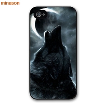 minason lone wolf wolf wisdom Cover case for iphone 4 4s 5 5s 5c 6 6s 7 8 plus samsung galaxy S5 S6 Note 2 3 4 K1088(China)