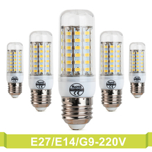 220V Ampoule E14 G9 Ultra Led Light 5730SMD E27 Corn LED Bulb Candle Spot light Chandelier Emergency Led Bulb Lampadina Led E27