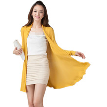 2016 New Women Cardigan European Fashion Style High Quality Hollow Summer Ladies knitted Sweater Shawl  Sunscreen Jacket SW003