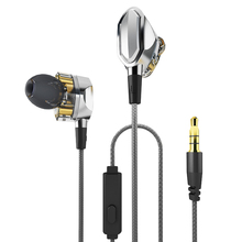 Dual Dynamic Driver InEar Headphones L1 High Resolution Bag Tensile Cable Noise-Isolating Earphones with Microphone with Mic(China)