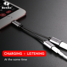 Benks 3 in1 Multifunction Cable for iphone X 8 8 Plus 7 7Plus Docking Expand Cable for IOS Listen Music Charge At the Same Time(China)