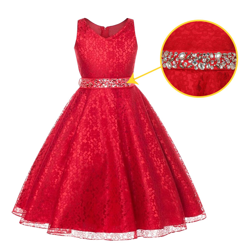 Girls Lace dresses for 4-12Yrs 2017 New summer children European princess girl Vestido wedding girls dress kids clothes<br><br>Aliexpress