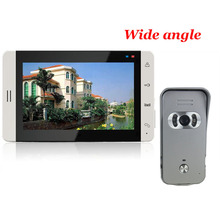 Home use 7 inch Color Touch Monitor Video Door Phone Intercom System With 700TVL Waterproof Wide Angle IR Camera