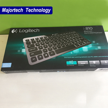 New arrival Original Logitech K810 Bluetooth Fashional Super Slim Design Illuminated keyboard for windows system(China)