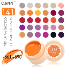 #50618 CANNI Factory Supply 141 Colors UV/LED Soak Off Professional Nail Salon UV Gel Paint(China)