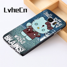LvheCn phone case cover For Samsung Galaxy S3 S4 S5 mini S6 S7 S8 edge plus Note2 3 4 5 7 8 Hello Kitty Funny Zombie Art(China)