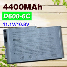 4400mAh 6 cells battery for DELL Inspiron 500m 510m 600m for Latitude 500m 600m D500 D505 D510 D510 D520 D530 D600 D610