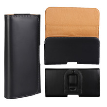 4 Sizes Luxury Universal Belt Clip Flip Leather Pouch Case For Blackberry Z30 All Phone Black Phone Bag 2 Styles(China)