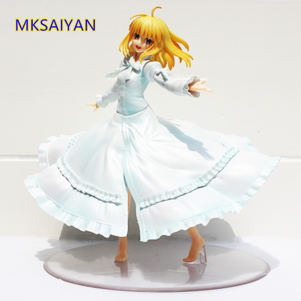 Fate/stay night Anime Saber Last Episode Action Figure 1/8 Scale Girl Doll Toys Juguetes PVC Hot Decoration Figure Birthday Gift