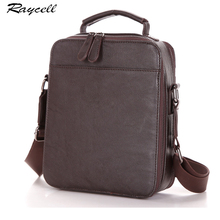 RAYCELL Brand Shoulder Handbag Men PU Leather Crossbody Bag Fashion Male Black Messenger Bags Small Briefcase Man Casual(China)