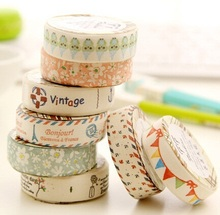 1pcs Vintage fresh Colorful Fabric Tape DIY Multifunction seal sticker