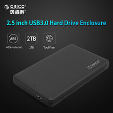 ORICO 2.5 inch HDD Enclosure Sata to USB 3.0 HDD Case Tool Free for 7mm/9.5mm 2.5 inch HDD and SSD Up to 2TB Supported