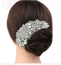 Crystal Rhinestone Flower Wedding Party Bridal Hair Comb Hairpin Clip Jewelry Silver New Formal Headwear