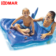 DMAR188cm 74inch Inflatable Pool Ride on Toys for Kids Swimming Ring Circle Giant Pool Toys Inflatable Float Mattress Beach Sea(China)