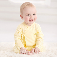 0 To 3 Months Cotton Baby Boy Clothes Kids Jumpsuit Open Stitch Belt Newborn Baby Clothes High Quality Online Rompers 607007