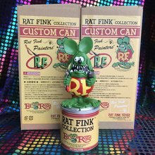 Original Garage Kit Classic Resin 19cm Big Daddy Rat Fink with storage Jar Cute Doll Collectible Figure Model Loose Toy for kids(China)