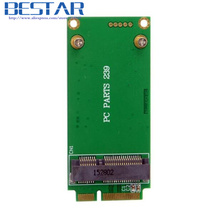 3x5cm mSATA Adapter card to 3x7cm Mini PCI-e SATA SSD for Asus Eee PC 1000 S101 900 901 900A T91(China)