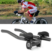 Road Bike Mountain Bike Aluminum Alloy Triathlon Handlebar Cycling Race Bicycle MTB Rest Handlebar Separated 2pcs Pipe Rest End
