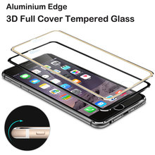 Fashion Aluminium Edge 3D Full Cover Tempered Glass for Apple iPhone 6 6S Plus 5 5S SE HD Screen Protector Case Protective Film