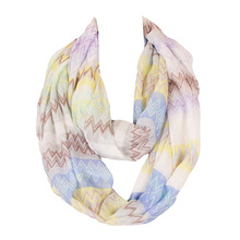 2017 Fashion Ring Scarves for Women Foulard Femme Animal Solid Stripe Pattern Printed Infinity Scarf Famous Brand Size:180*50(China)
