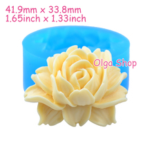 HYL047 41.9mm Rose Flower Silicone Push Mold - Cake Topper, Sugarcraft, Fondant, Gum Paste, Resin Jewelry Making, Icing, Candy(China)
