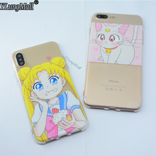 Buy Fundas Coque Phone Cases iPhone 8 6 6S 7 Plus X Case Japan Comic Sailor Moon Transparent Soft Silicone TPU Cover Capa for $2.02 in AliExpress store