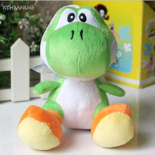 "1pcs 6"" 15cm Game Nintendo Super Mario Brothers Bros Green Yarn Yoshi Stuffed Toy Kids Plush Doll"