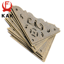 10PCS KAK Jewelry Box Book Scrapbook  Bronze Corner Bracket Antique Frame Accessories Notebook Menu Corner Decorative Protector