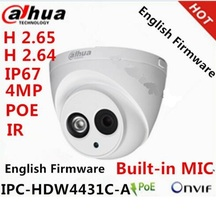 Dahua 4.0MP IPC-HDW4431C-A to replace IPC-HDW4300C Mini Dome IP Camera Built-in POE HDW4300C HD 1080P Network dome cctv Camera(China)