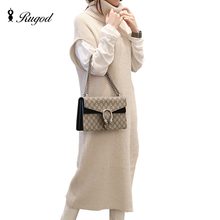 Woman Dresses Winter Batwing Short Sleeve Jumper Knitted Long Wool Dress Casual Work Ladies Dresses New Arrival 2016 Sweater
