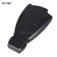 KEYYOU With L0GO Rreplacements 3 Buttons Remote Key Fob Case Cover For Mercedes Benz B C E ML S CLK CL 3B 3BT