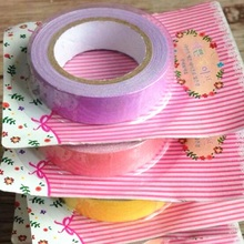 1pcs/lot 10M NEW Korea Vintage Candy Color Fabric tape students' DIY decoration Adhesive Tape Multifunction(China)
