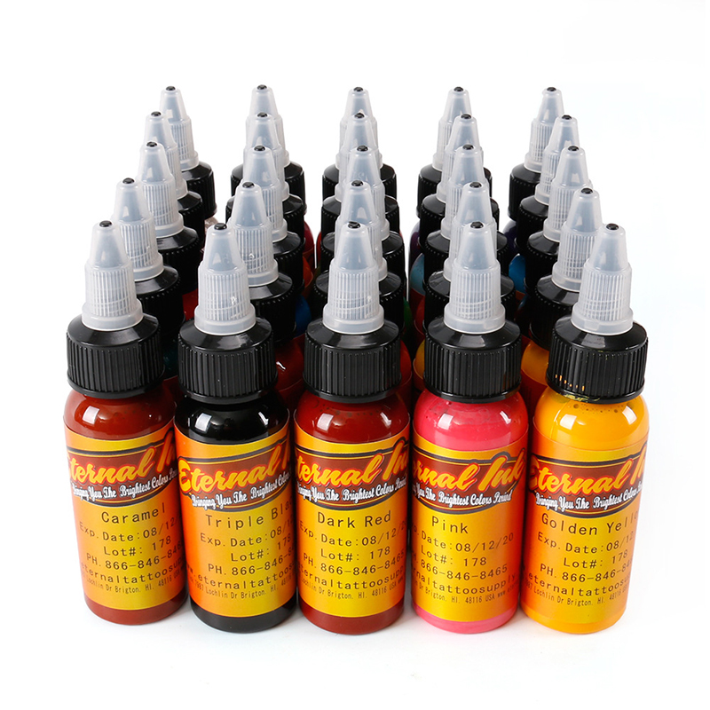 50pcs tattoo ink set Microblading permanent makeup art pigment 30ml tattoo paint for eyebrow eyeliner lip body total 50 colors 12