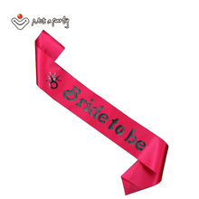 60% for 3pcs Wedding event-pink Bride to be sash cheap satin sashes for bachelorette party and Hen Party brides party