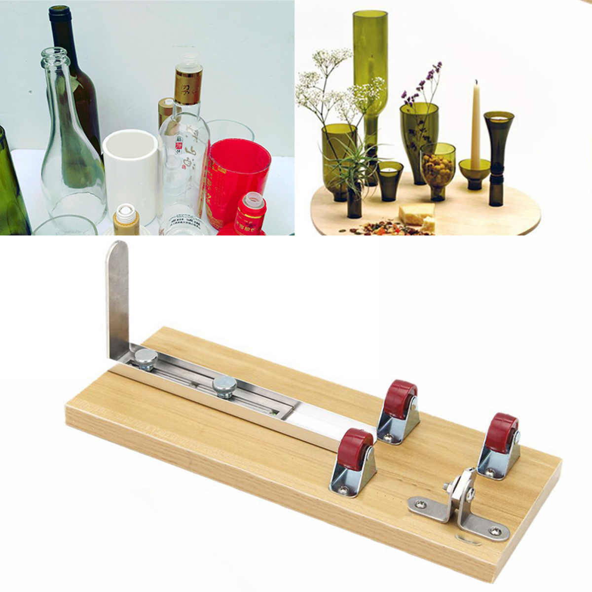 Durable Wine Beer Glass Bottle Cutter Machine Mayitr Jar Cutter For Bottle  Sculpture Art Cutting Tool Kits DIY Recycle<br>
