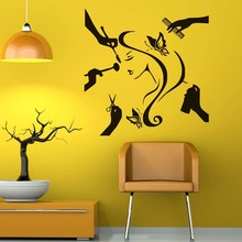 DCTOP Modern Beauty Salon Beauty And Makeup DIY Wall Sticker Vinyl Removable Home Decor Girls Stickers Barber Shop Model House(China)