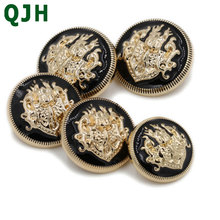 10pcs/lot Brand british style high-grade metal buttons coat jacket buttoned snap fastener Plating metal snap Sewing Supplies(China)