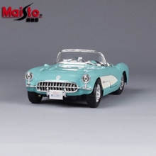 Maisto 1/24 Chevrolet Corvette Turquoise 1957 Diecast Car Model Quality Models With Box for Children Gift Collections