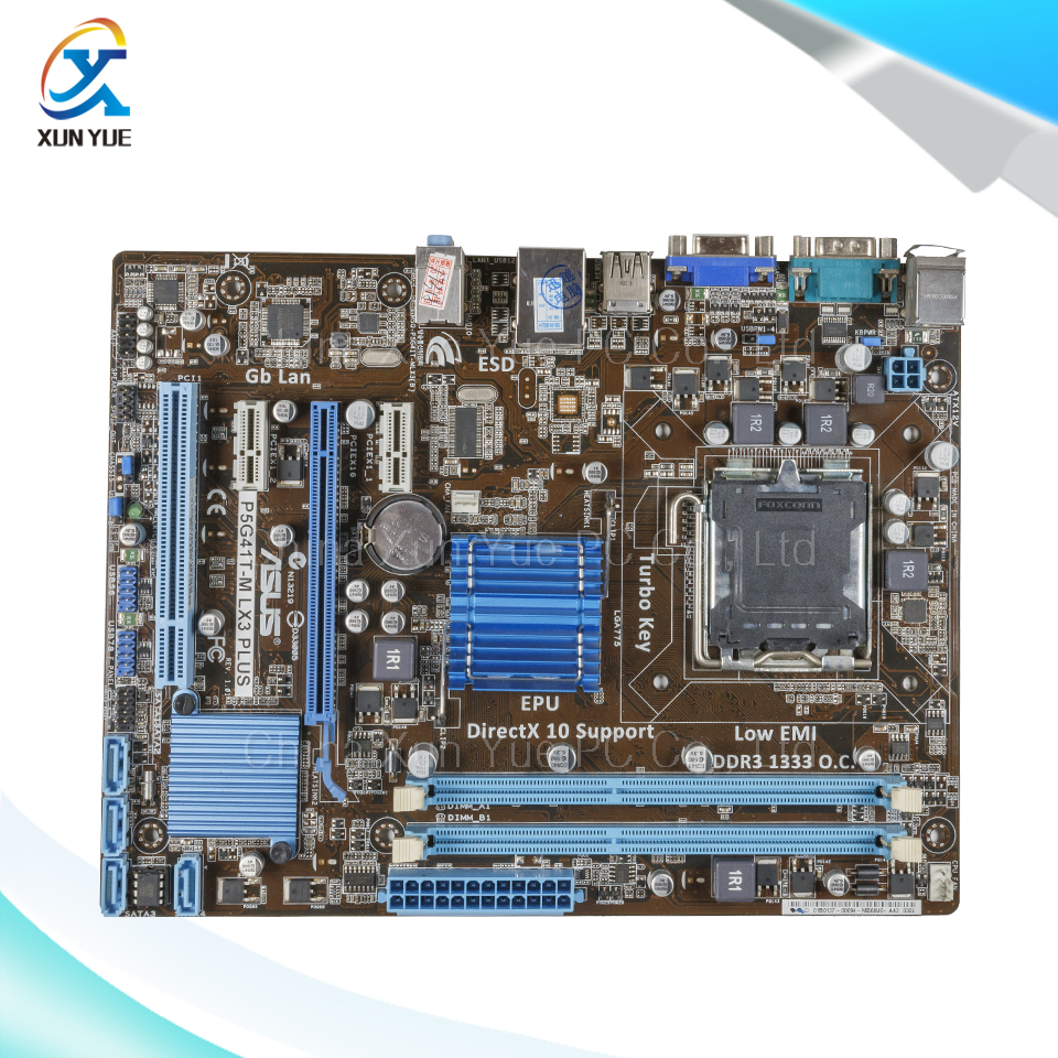 For Asus P5G41T-M LX3 Plus Original Used Desktop Motherboard For Intel G41 Socket LGA 775 For DDR3 8G SATA2 USB2.0 uATX<br><br>Aliexpress