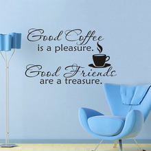 Character Good Coffee Friends Wall Sticker Simple Style Home Supplies Family Use Interior Art Applied to Living Room Free Ship(China)