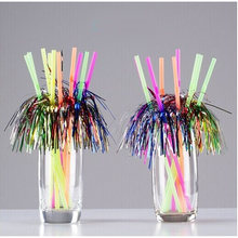 Creative Fireworks Color Drinking Straw DIY Art Juice Milk PP Straw Eco Friendly Festive Party Decoration SD975