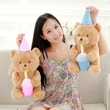 1Pcs 35cm Cute Lovely Teddy Bear Plush Toys Birthday Bear cloth Doll Best Gifts for Children birthday and Girlfriend