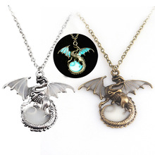 Luminous necklace Loong Badge Daenerys Stormborn Drogon Game Of Thrones A Song Of Ice And Fire Figures Action & Toy Figures