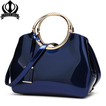 New High Quality Patent Leather Women bag Ladies Cross Body messenger Shoulder Bags Handbags Women Famous Brands bolsa feminina(China)