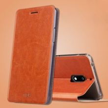 MOFI Case Cover for Nokia 6 Cell Phone Bag Crazy Horse Flip PU Leather Mobile Phone Casing for Nokia 6 Shell Fundas Coque- Brown