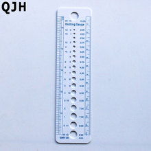 1pcs Plastic Sewte Knitting Needle Gauge Inch cm Ruler Tool (US UK Canada Sizes) 2-10mm Costura Sewing Accessories Tools(China)