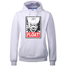 2017 Autumn New Arrival Stephen King's It the Clown Pennywise Float Obey Printed Men Hip-Hop Male Hooded Hoodies Pullover Hoody(China)