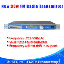 FU-30/50B 30W FM transmitter 0-30w power adjustable radio broadcaster Stereo RDS Port Clear Sound Quality 6.5mm MIC port